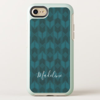 Outdoor Geo Step | Dark Teal Pattern OtterBox Symmetry iPhone 8/7 Case