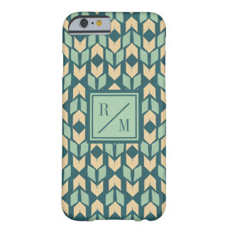 Outdoor Geo Step | Geometric Teal Arrow Pattern Barely There iPhone 6 Case