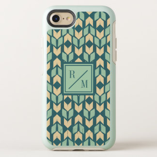 Outdoor Geo Step | Geometric Teal Arrow Pattern OtterBox Symmetry iPhone 8/7 Case