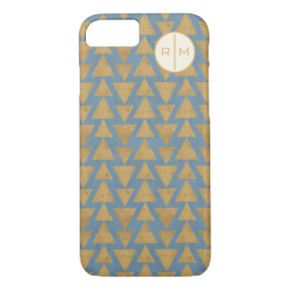 Outdoor Geo Step | Gold & Blue Pattern iPhone 8/7 Case
