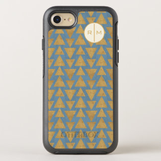 Outdoor Geo Step | Gold & Blue Pattern OtterBox Symmetry iPhone 8/7 Case