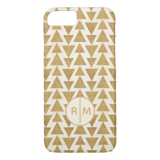 Outdoor Geo Step | Gold Geometric Pattern iPhone 8/7 Case