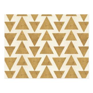Outdoor Geo Step | Gold Geometric Pattern Postcard