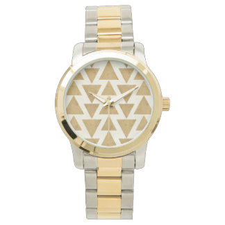 Outdoor Geo Step | Gold Geometric Pattern Watch