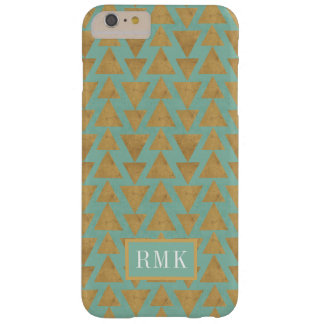 Outdoor Geo Step | Gold & Teal Pattern Barely There iPhone 6 Plus Case