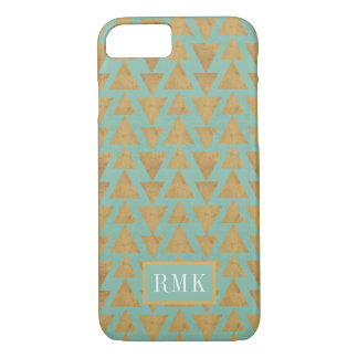 Outdoor Geo Step | Gold & Teal Pattern iPhone 8/7 Case