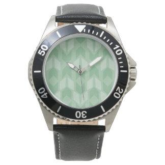 Outdoor Geo Step   Green Arrow Pattern Watch