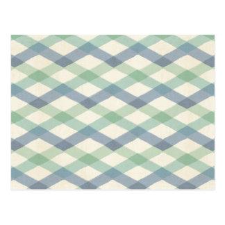 Outdoor Geo Step | Pastel Geometric Pattern Postcard