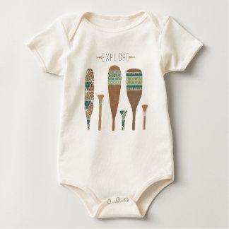 Outdoor Geo VII   Explore Baby Bodysuit