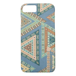 Outdoor Geo X | Blue Tribal Indian Pattern iPhone 8/7 Case
