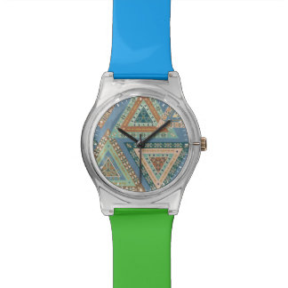 Outdoor Geo X | Blue Tribal Indian Pattern Watch