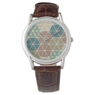 Outdoor Geo XI | Blue & Green Tribal Pattern Watch