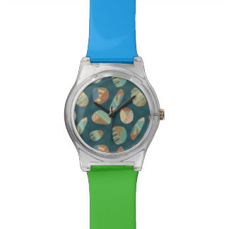 Outdoor Geo XII | Blue & Green Geometric Pattern Watch