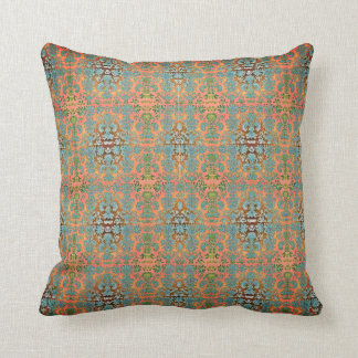 Outdoor-Indoor-Blue-Peach-Damask-Pillow-Sets Cushion