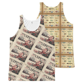 """Outdoor Life-Vintage"" All-Over Print Singlet"