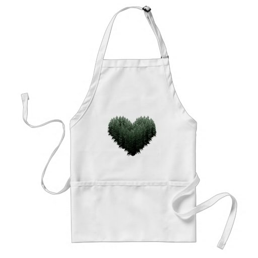 Outdoor Lovers Tree Heart Forest Aprons