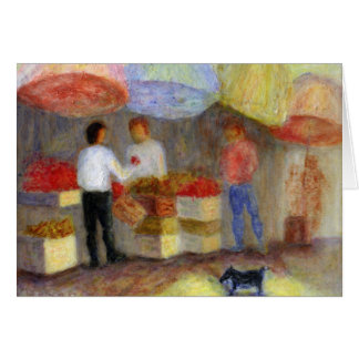 Outdoor Market, Greeting Card