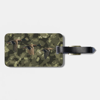 Outdoor military camo camouflage mallard duck luggage tag