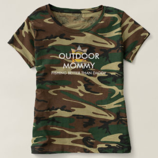 Outdoor Mommy Fishing Better Than Daddy T-Shirt