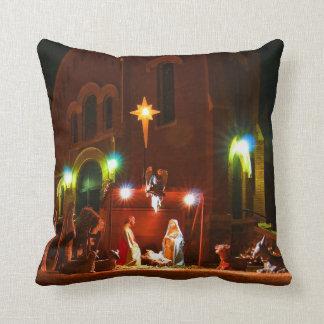 Outdoor nativity scene cushion