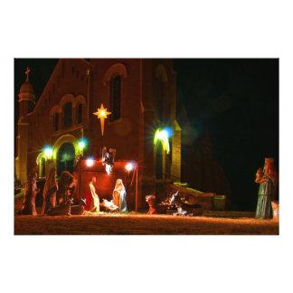 Outdoor nativity scene photograph