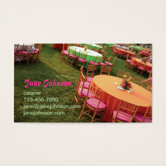 outdoor party tables business card