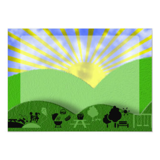 Outdoor Picnic Invitation Background