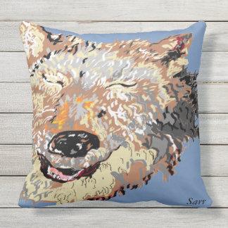 Outdoor Pillow/Alaskan Husky Outdoor Cushion