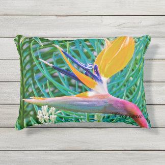 Outdoor Pillow, Bird of Paradise design Outdoor Cushion