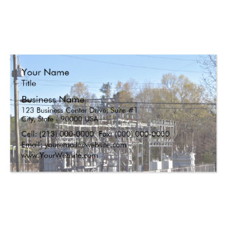Outdoor power substation business cards