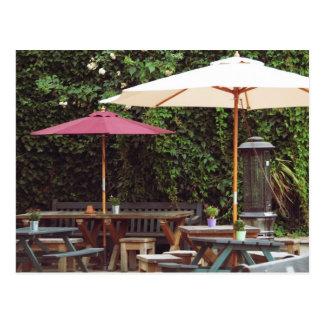 Outdoor pub postcard