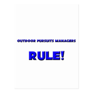 Outdoor Pursuits Managers Rule! Postcards
