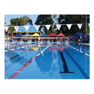 Outdoor Swimming Pool Postcard
