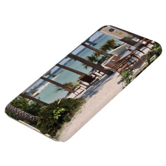 Outdoor tables and chairs at resort barely there iPhone 6 plus case