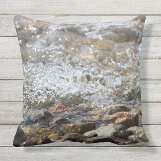 "Outdoor Throw Pillow ""Babbling Brook"""