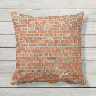 Outdoor Throw Pillow-brick wall texture Outdoor Cushion