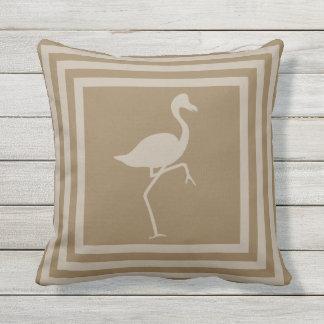 Outdoor Throw Pillow Flamingo Geometric OP1010