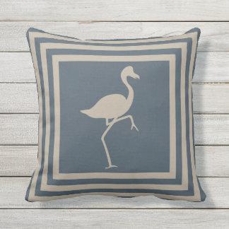 Outdoor Throw Pillow Flamingo Geometric OP1011