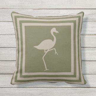 Outdoor Throw Pillow Geometric Flamingo OP1012