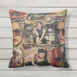 Outdoor Throw Pillow - Memories of China