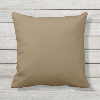 Outdoor Throw Pillow Solid Brown OP1008