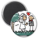 Outdoor Wedding Outside Nature Green Wedding Fridge Magnet