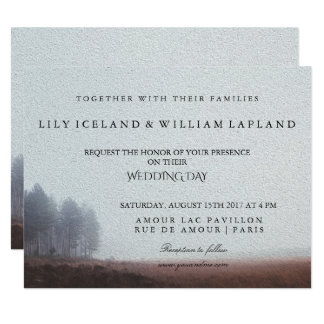 Outdoor Winter Wedding Invitation
