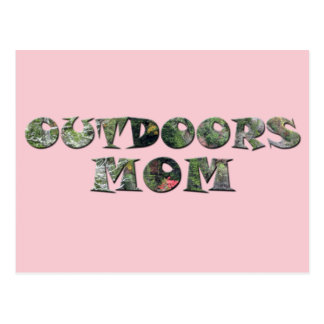 Outdoors Mom in real Camo Postcard