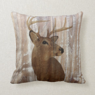 Outdoorsman Western Primitive barn wood deer Cushion