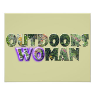 OUTDOORSWOMAN w/Purple Accent Photo Print