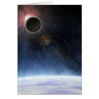 Outer Atmosphere of The Planet Earth Greeting Card