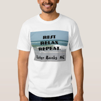 Outer Banks Beach Shirt OBX NC Rest Relax Repeat
