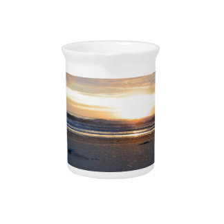Outer Banks Beach Sunrise Drink Pitcher