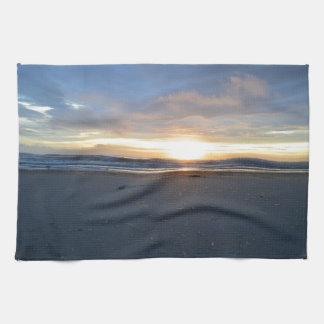 Outer Banks Beach Sunrise Tea Towel